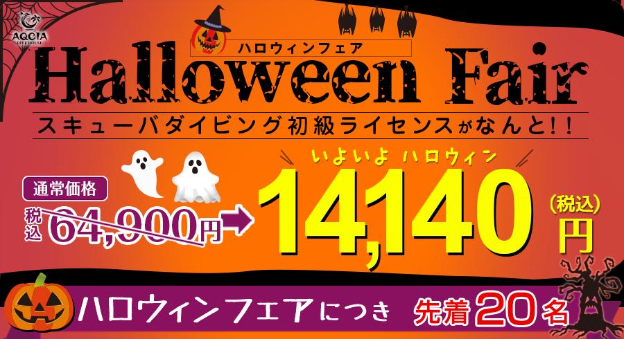 【先着20名様限定】ハロウィンフェア スキューバダイビング初級ライセンスがなんと14,140円!